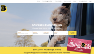 Hyper Hyper Marketing for Budget Motel Chain Website Home Page
