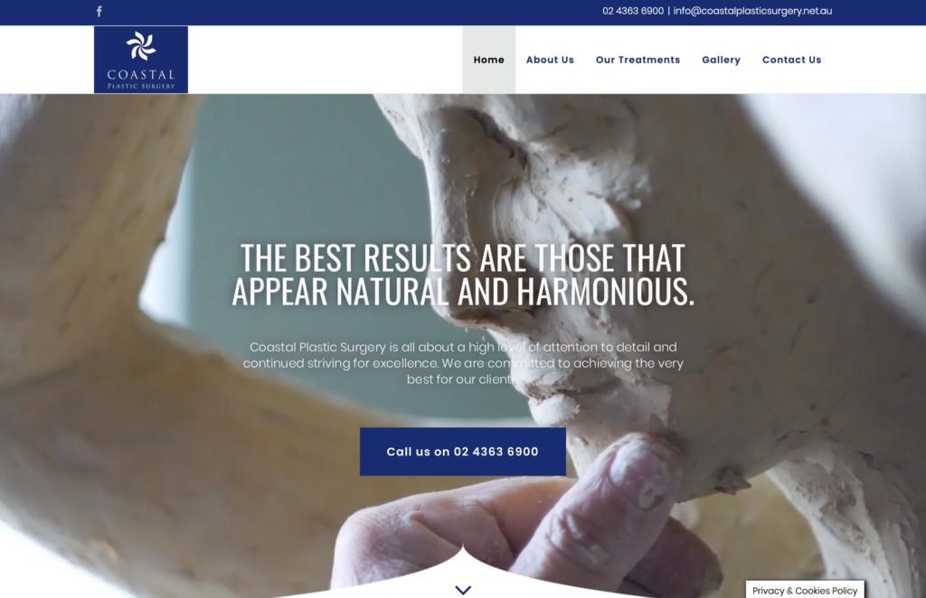 Hyper Hyper Marketing Coast Plastic Surgery Website