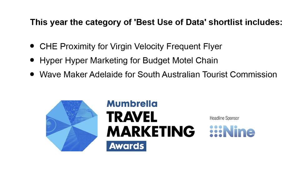 Hyper Hyper Finalist Mumbrella Tourism Marketing Best Use of Data